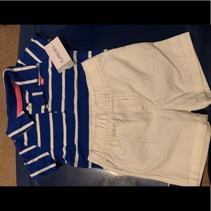 NWT carters polo and shorts